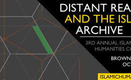 Call for Papers: Distant Reading and the IslamicArchive